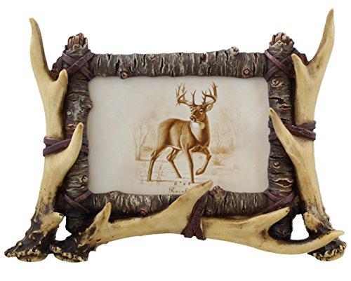Rustic Deer Antler / Birch Picture Frame 4