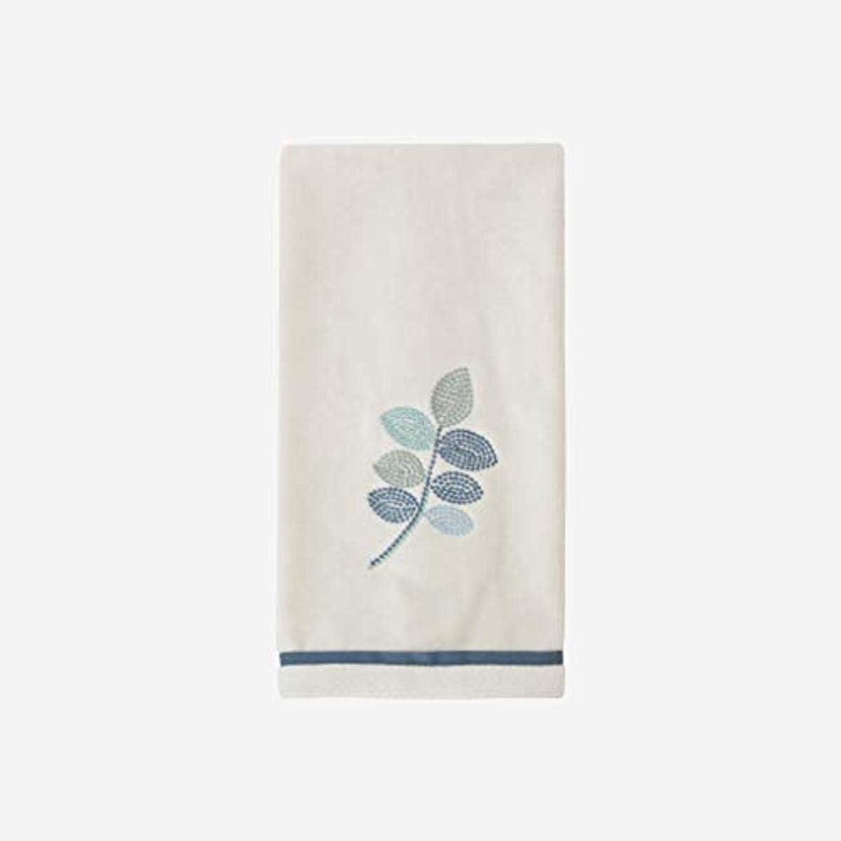 Amazon Com Croscill Mosaic Leaves Spa Hand Towel Light Cream Home Kitchen