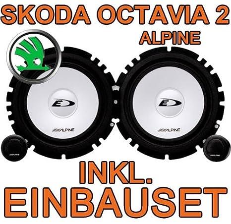 Skoda Octavia 2 -Lautsprecher Heck - Alpine SXE 1750S Komposystem ...