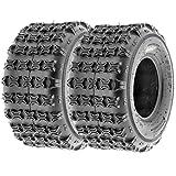 SunF 18x9.5-8 18x9.5x8 ATV UTV All Terrain Race Replacement 6 PR Tubeless Tires A018, [Set of 2]