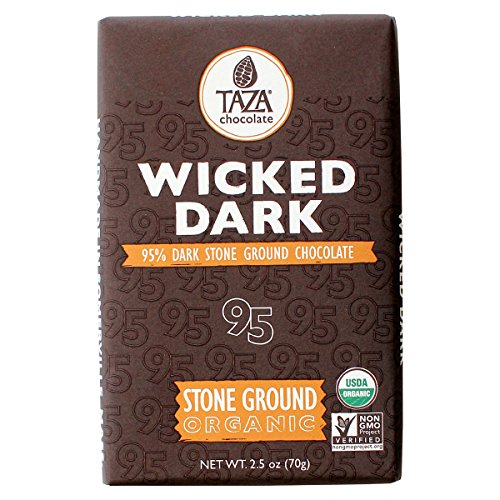 Stone Ground Organic Chocolate (Taza Chocolate Amaze Bar, 95% Stone Ground Organic, Wicked Dark, 2.5 Ounce)