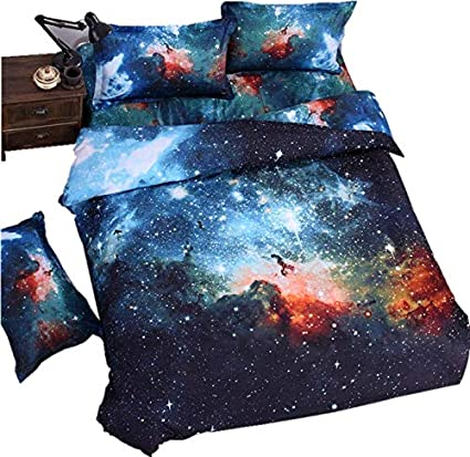 lelva galaxy bedding set galaxy duvet cover set kids bedding for boys and girls teens bedding - Galaxy Bedding Set