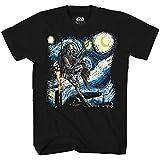 Mad Engine Star Wars Boba Fett Starry Night Men's Adult Graphic Tee T-Shirt (Black, X-Large)