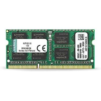 Kingston ValueRAM 8GB 1600MHz DDR3 (PC3-12800) Non-ECC CL11 SODIMM Notebook Memory (KVR16S11/8)