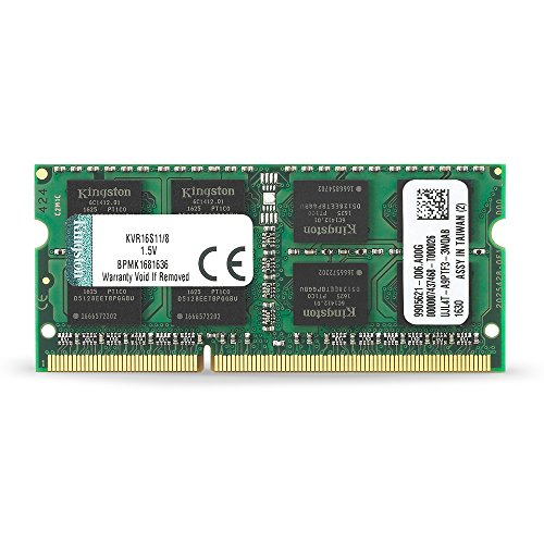 Kingston Technology 8GB 1600MHz DDR3L Non-ECC CL11 SODIMM PC Memory (512 Mb Abs Computer)