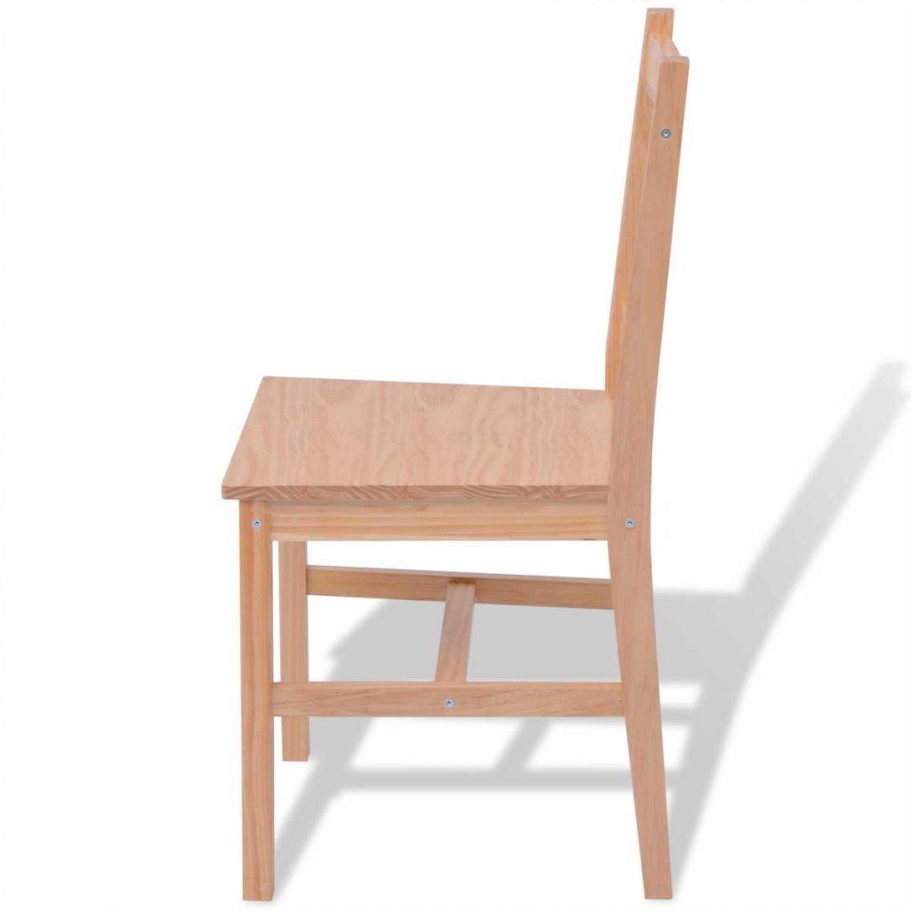 Festnight Ensemble Table /à Manger et 6 chaises de Salle /à Manger en Bois de Confort Restaurant Pin/ède Marron