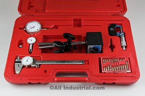 6 Pc. Machinist Starter Set Caliper Micrometer Indicator ...