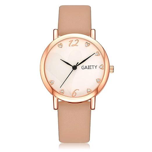 Relojes Pulsera Mujer,Reloj de Pulsera clásico para Mujer Relojes Reloj de Cuero Letra Relojes QINGXIA_ZI: Amazon.es: Relojes
