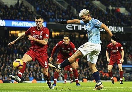 Generic Sergio Aguero Premier League Manchester City Vs Liverpool Fc Football Poster 11581 A3 A4 A5 A5 Amazon De Kuche Haushalt