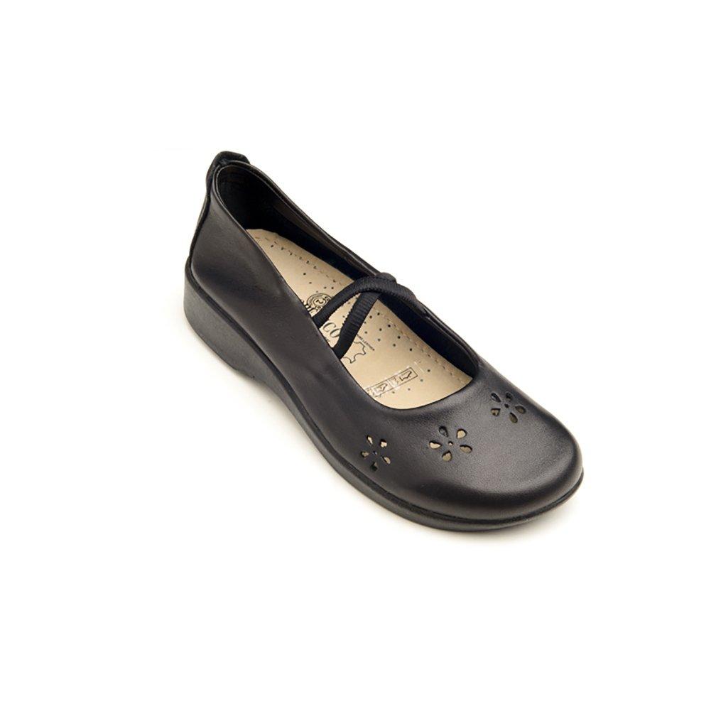 Arcopedico 6811 Flower Womens Flats Shoes B01LZD8S52 41 EU|Black