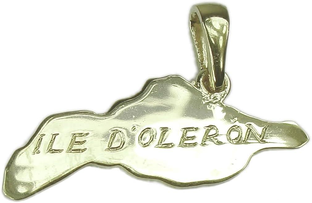 Pendentif Carte de lIle dOl/éron Souvenirs de France