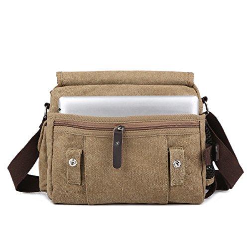 Männer Und Frauen Jahrgang Leinwand Messenger Aktentasche Schulter Tote Sling Freizeit Tasche,A-27cm*10cm*21cm