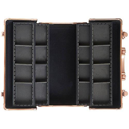 beautify large makeup cosmetic organizer train case 14 u0026quot  professional aluminum storage box