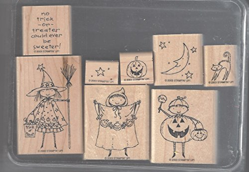 Stampin' up! Sweeter Treaters Set of 8 Retired 2003 Halloween -