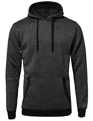 Fine Quality Plush Fleece Lined Pullover Black L Size by Style by William (Image #4)