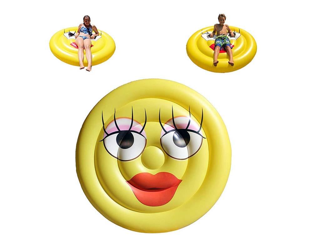 Sucastle Hinchable colchonetas Piscina Flotador Cara Sonriente para Piscina Juguete Veraniego Inflable Juguete para Fiestas Playa de Piscina con para niños ...