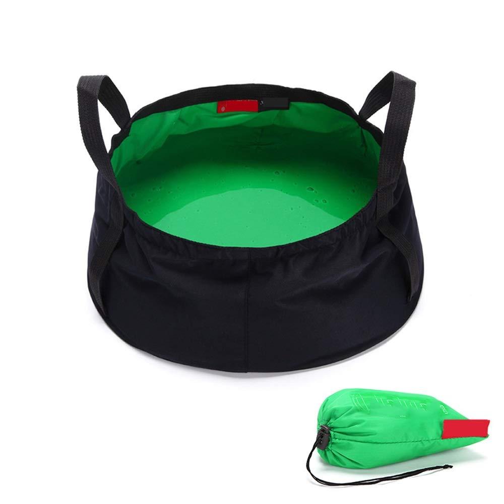 Miyabitors Portable Folding Basin Folding Washbasin Travel Outdoor Washbasin Washbasin (Color : Green) by Miyabitors