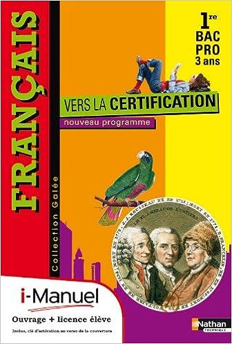 Livre Français - Vers la certification pdf, epub