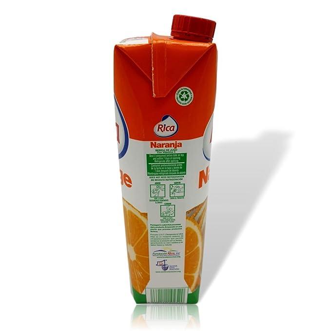 Amazon.com : Orange Juice Drink Jugo de Naranja Rica 1 Lt With Vitamin C (33.8 fl oz) : Grocery & Gourmet Food