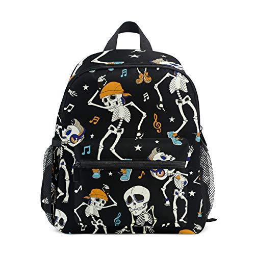 Backpack Dancing Skeletons Halloween Black School Bag Multi Cute BookBags for School Boys and Girls Kid Bags Children Travel Daypack 3-8 Years Old Preschool]()