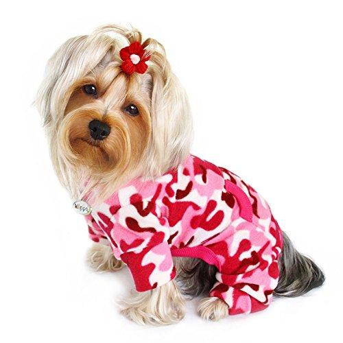 Pink Camouflage Fleece Turtleneck Pajamas/Bodysuit/Loungewear/Coverall - MEDIUM