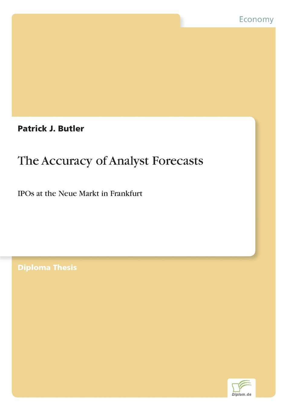 The Accuracy of Analyst Forecasts: IPOs at the Neue Markt in Frankfurt ebook