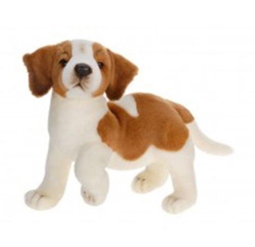 14 Inch Handcrafted Saint Bernard Puppy Dog Plush Stuffed Animal