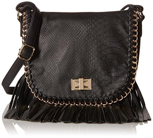Call It Spring Abbyville Fringe Cross Body Bag, Black, One Size