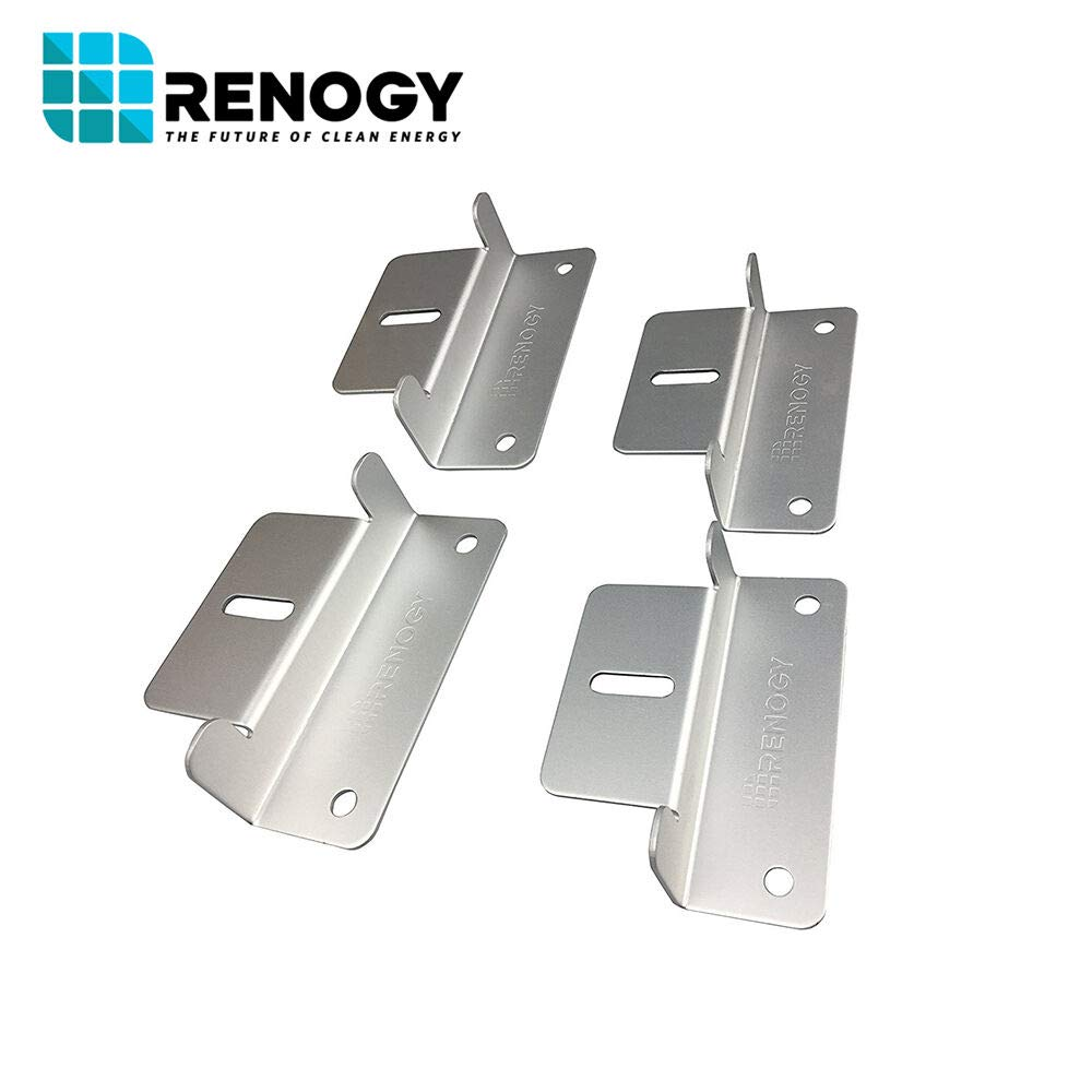Renogy 4 Sets of Solar Panel Mounting Z Brackets for RV, Boat, Wall and Other Off Gird Roof Installation, 4 Pack by Renogy (Image #4)