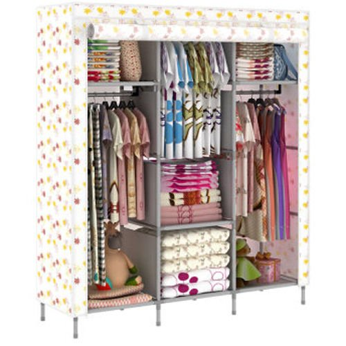 New Portable Folding Clothes Bedroom Furniture Wardrobe Armoires Cabinet Closet Generic
