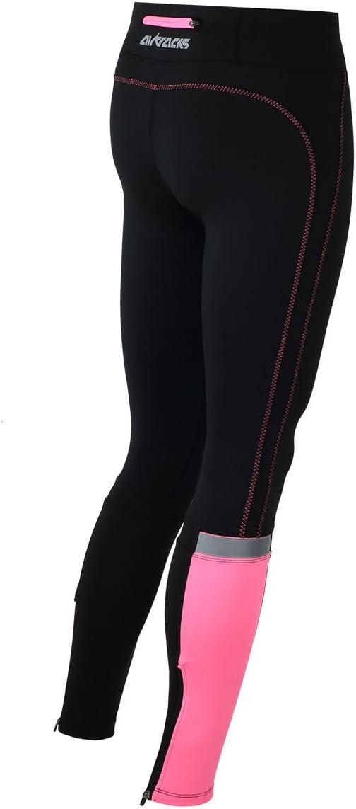 AIRTRACKS funktions Pantalon de Course Longue Tight//Compression//Respirant Running//r/éflecteurs//Fluo