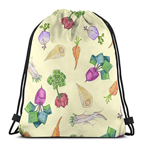 Square Roots On Pale Straw_44095 3D Print Drawstring Backpack Rucksack Shoulder Bags Gym Bag for Adult 16.9