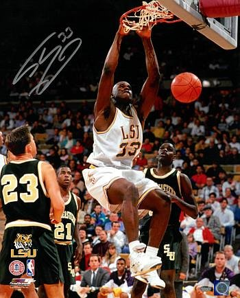 f870c892ad9 Image Unavailable. Image not available for. Color: Shaquille O'Neal signed  LSU ...