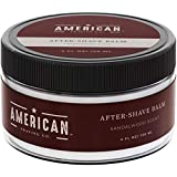 American Shaving After Shave Balm For Men (4oz) - Sandalwood Barbershop Scent - 100% Natural Moisturizing Aftershave Lotion - Best Aftershave For Men to Soothe Dry Sensitive Skin (Packaging May Vary)