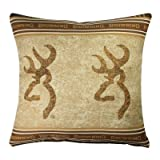 Buckmark Square Pillow