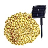 Backever Solar String Lights, [Upgraded] Fairy Lights 72ft 200 LED IP65 Waterproof Ambiance Decorative Garden Lights Ideal for Outdoor Garden Patio Home Wedding Xmas Tree New Year Party (Warm White)