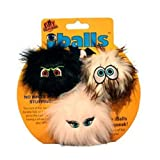 VIP Products Silly Squeakers IBalls Dog Toy, 3 Pack, Small, Black, Brown and Pink, My Pet Supplies