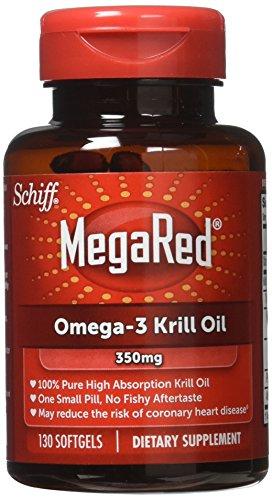MegaRed 350mg Omega-3 Krill Oil, 130 softgels