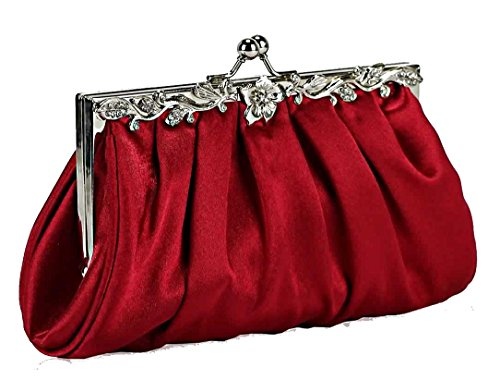 The FabLook Acc , Damen Clutch Rot Rot