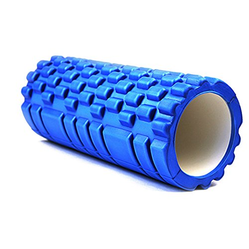Sorliva High Density Foam Roller For Muscle Massage Physical Therapy  Exercise  Soothing Therapeutic  Comfort For Soreness Trigger Roll Relief For Back Pain   Deep Tissue Myofascial Release Blue