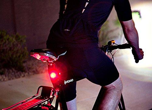 TKSTAR Bike GPS Tracker Alarm with LED Tail Light Waterproof Worldwide Realtime GPS Locator Mini Smart LED light Hidden Motor Bicycle GPS Tracking Device 25 Days Long Battery Life FREE APP by TKSTAR (Image #1)
