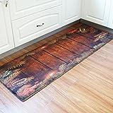 Transer Shaggy Soft Non-Slip Rectangle Kitchen Floor Mat Doormat Runner Area Rug – 24″ x 72″ (Red)