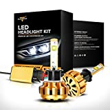 Automotive : Auxbeam H1 LED headlight bulbs F-16 Series LED Headlights with 2 Pcs of Headlight Conversion Kits 60W 6000lm CREE LED Chips Driving Light (Pack of 2) - 1 Year Warranty