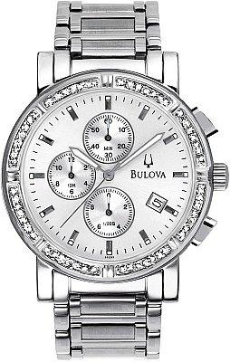 Bulova Men's Diamond Chronograph Watch 96E03