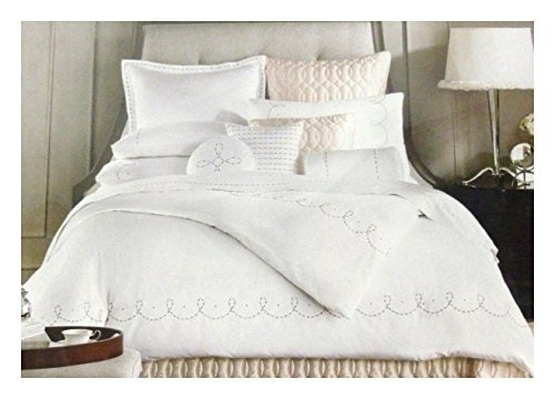 Barbara Barry Dream Duvet Cover and Pillow Sham Set Pearls Queen