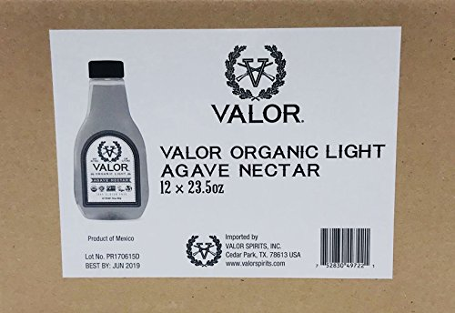 Valor Agave Organic Light Agave Nectar, 23.5 oz., 12 Count