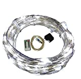 Zzmart USB String Lights, New Version Dimmable & Timer 5V 50ft 150 Leds String Lights - Waterproof Flexible Copper Wire, Holiday Decorative LED Lights for Outdoor and Indoor (50, White)