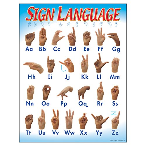 TREND enterprises, Inc. Sign Language Learning Chart, 17