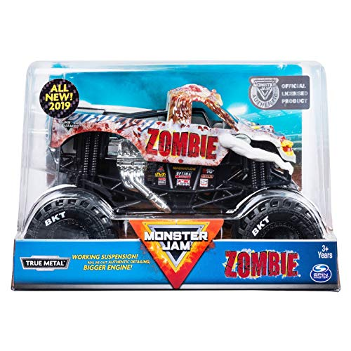 MJ Monster Jam Official Zombie Monster Truck Die-Cast Vehicle, 1:24 Scale ()