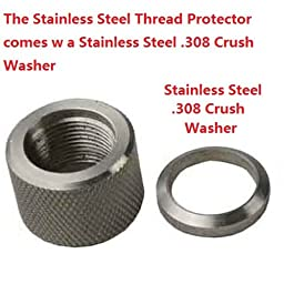 LR308 .308 Stainless Steel Thread Protector, 5/8x24 Pitch, .936